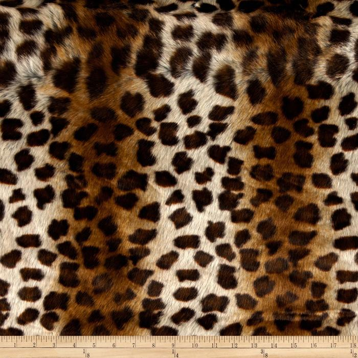 Faux Fur African Leopard Brown/Beige