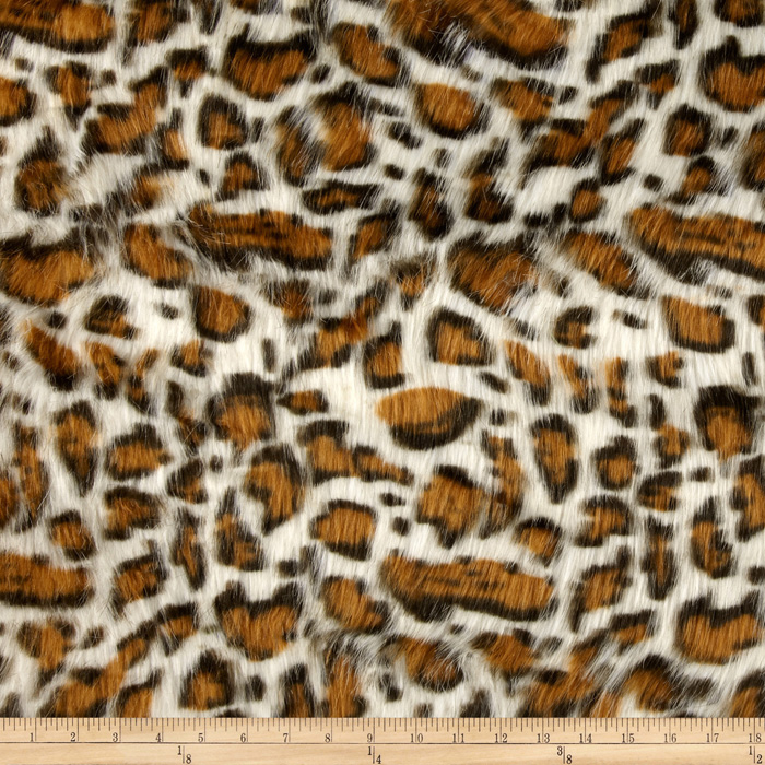 Faux Fur Panther Beige Fabric
