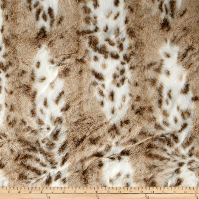 Fabric.com coupon: Shannon Lux Fur Siberian Leopard Beige Fabric