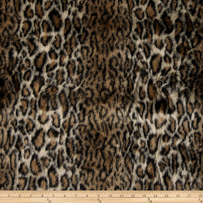Faux Fur Ocelot Brown/Black Fabric