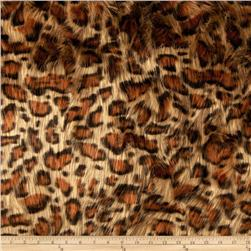 Faux Fur Panther Gold Fabric