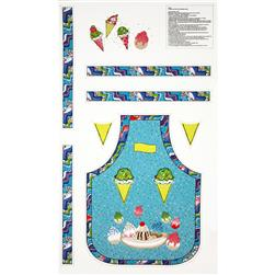 Cook's Helper Child's Apron Panel Blue