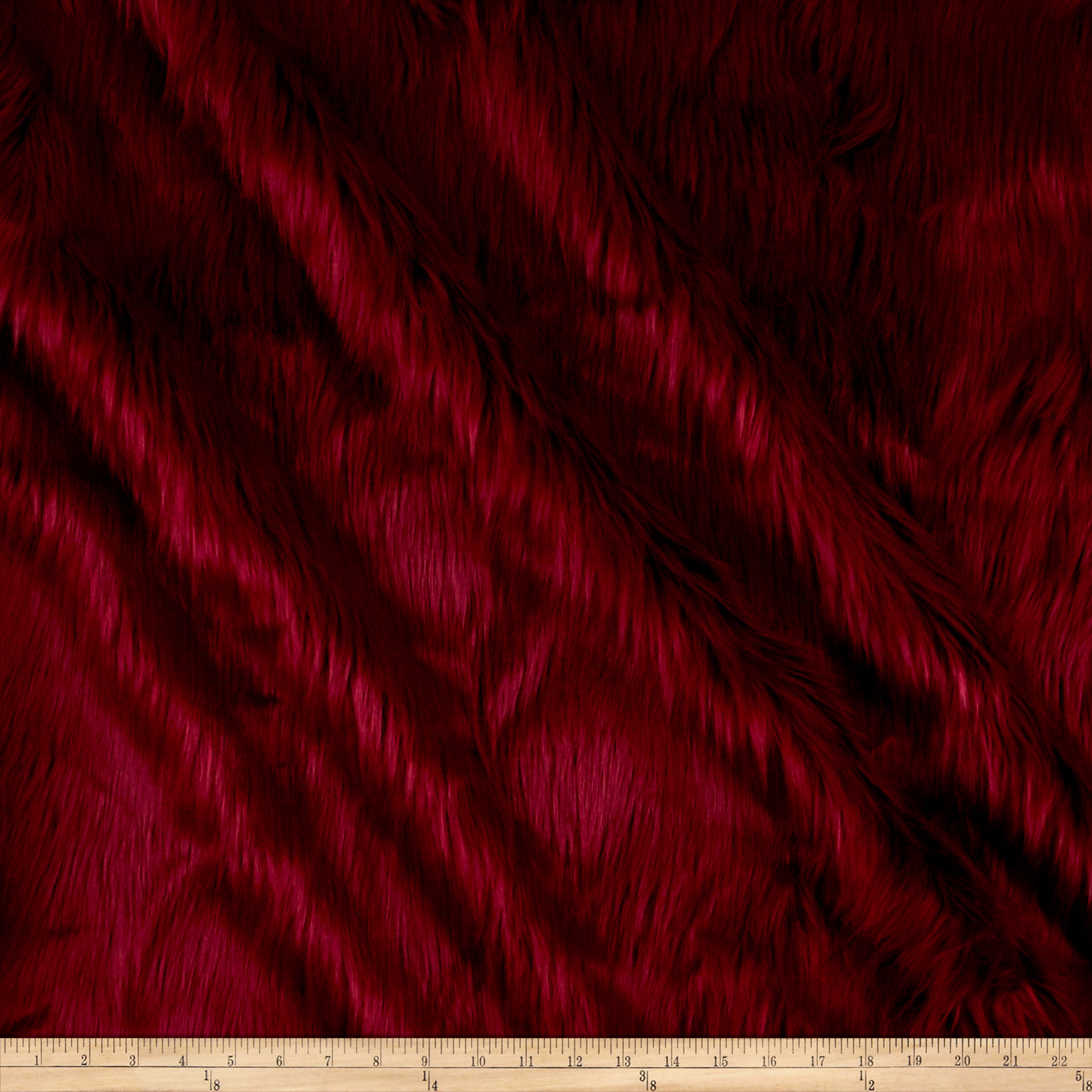 Fabric.com coupon: Shannon Faux Fur Luxury Shag Red