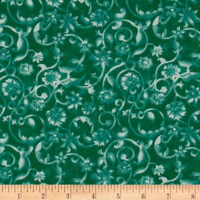 108'' Tonal Scroll Quilt Backing Deep Ocean