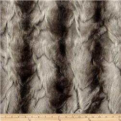 Faux Fur Brandy Fox Silver