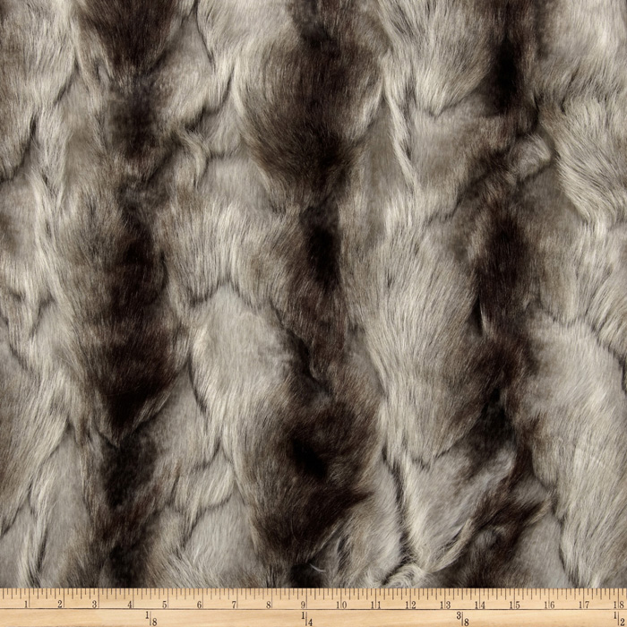 Faux Fur Brandy Fox Silver Fabric