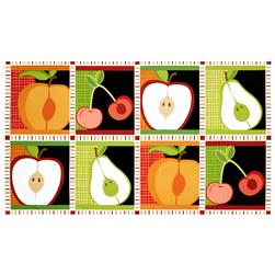 Metro Market Patchwork Panel Apples Harvest Red/Green