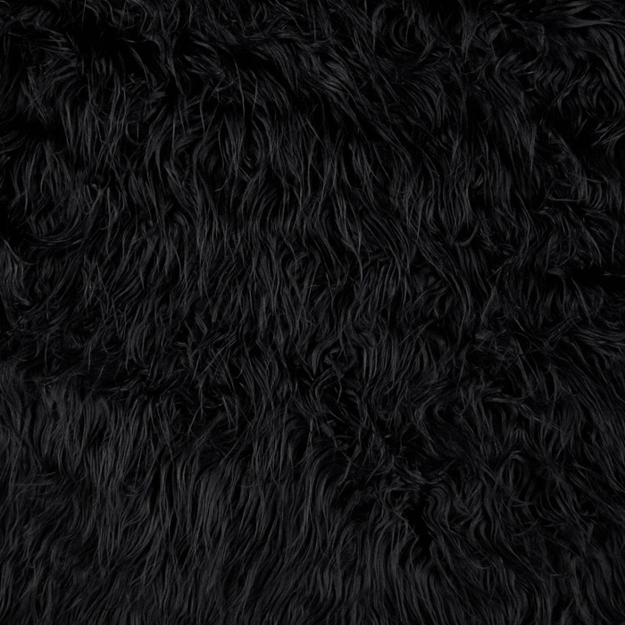 Fabric.com coupon: Shannon Lux Fur Mongolian Black Fabric
