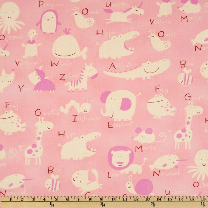 Baby Talk Animal Alphabet Pink