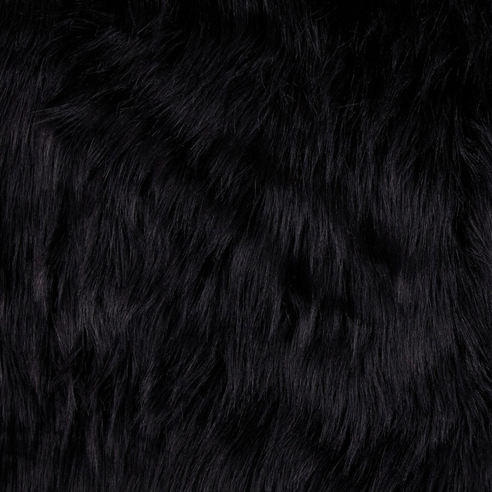 Fabric.com coupon: Shannon Lux Fur Arctic Fox Black Fabric