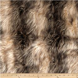 Faux Fur Island Raccoon Ivory/Silver/Brown