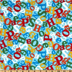 Celebrate Seuss 3 Tossed Letters Aqua
