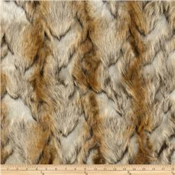 Faux Fur Brandy Fox Gold Fabric