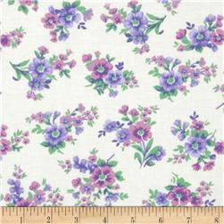Spring Ahead Lilac Floral on White