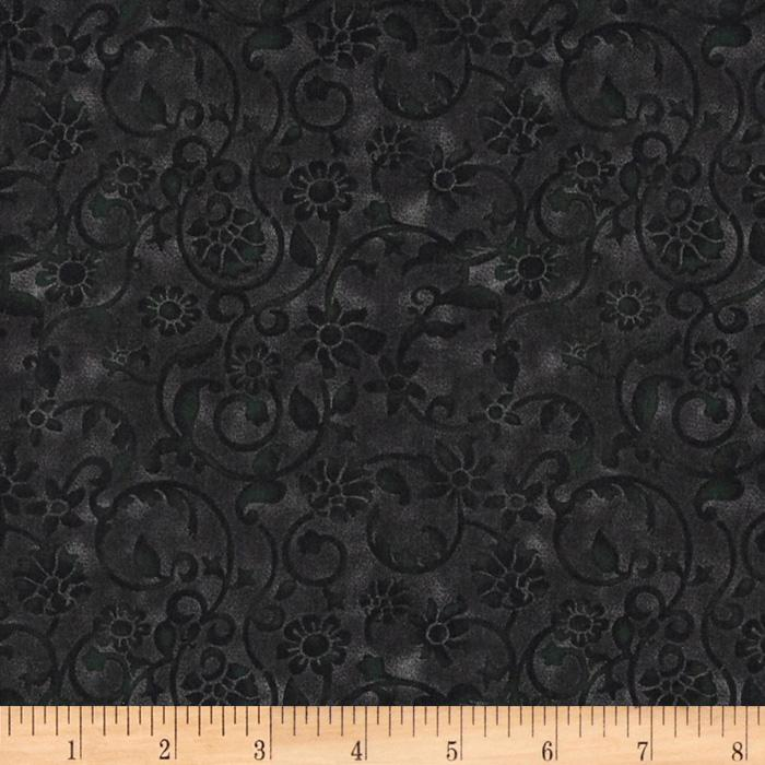 "108"" Tonal Scroll Quilt Backing Quilt Backing Black"