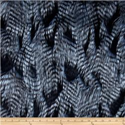 Faux Fur Fancy Feather Denim-Blue Fabric
