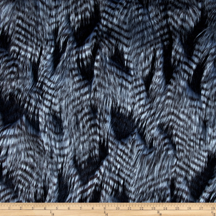 Fabric.com coupon: Shannon Lux Fur Fancy Feather Denim-Blue