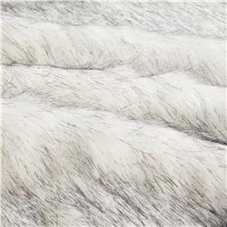 Faux Fur Husky Black/White Fabric