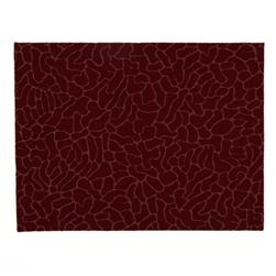 "Embossed Felt Cobblestone 9"" x 12"" Craft Cut Ruby"