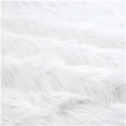 Faux Fur Arctic Fox White Fabric