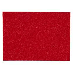 Glitter Felt 9'' x 12'' Craft Cut Red