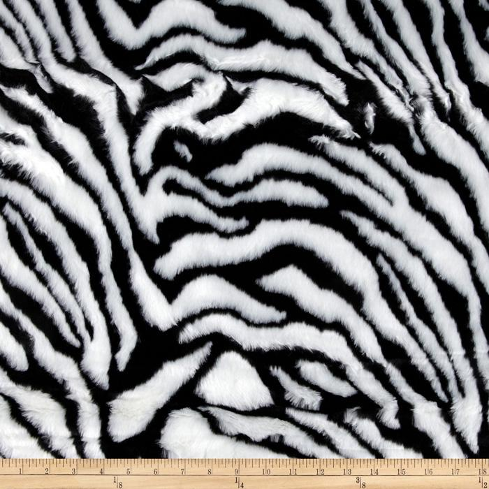 Bengal Faux Fur Black/White