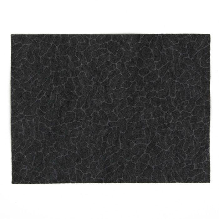 "Embossed Felt Cobblestone 9"" x 12"" Craft Cut Smoke"