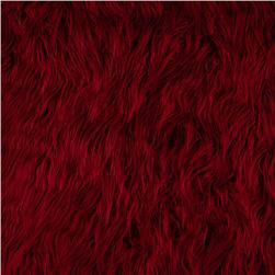 Faux Fur Mongolian Red Fabric