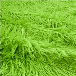 Faux Fur Mongolian Lime Fabric