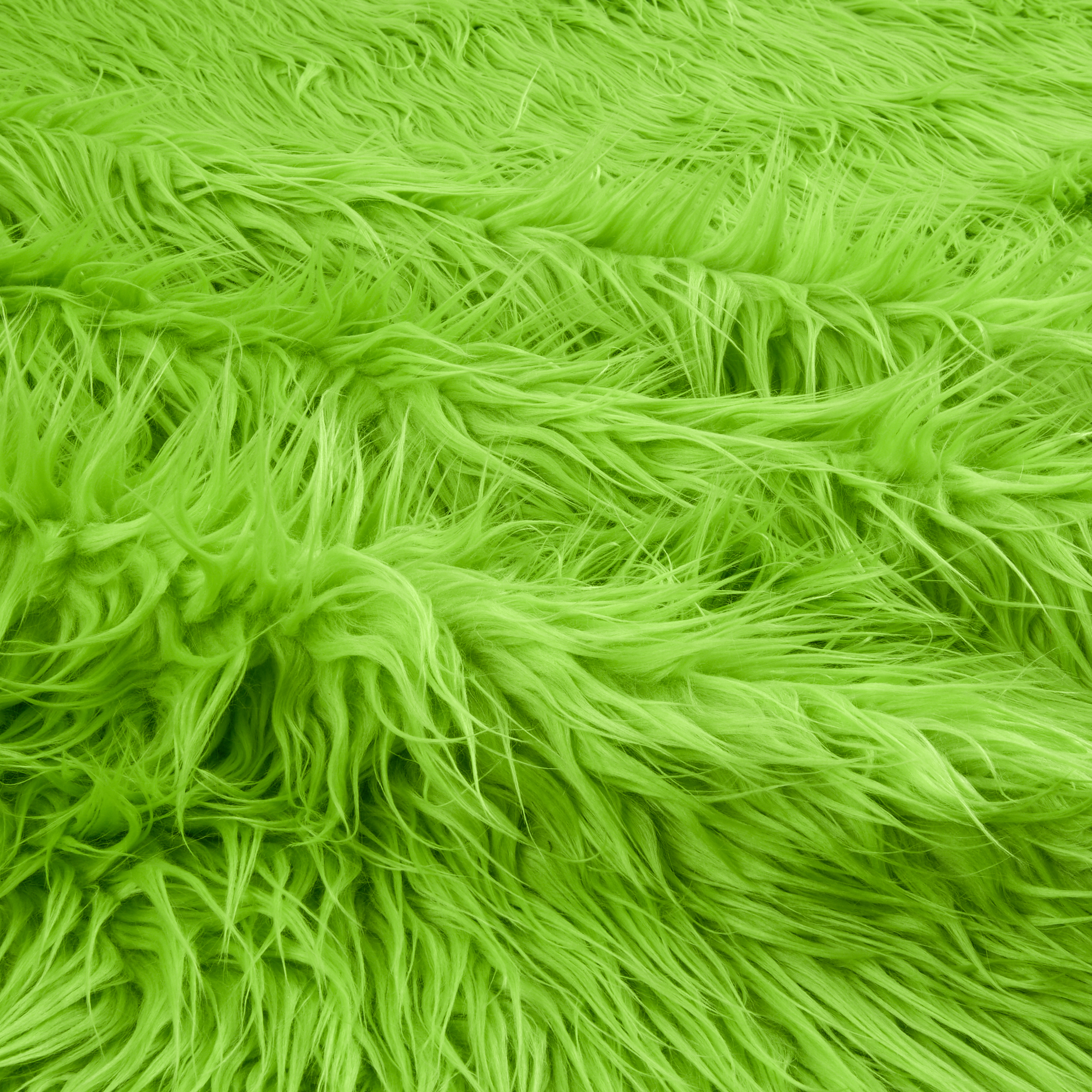 Fabric.com coupon: Shannon Lux Fur Mongolian  Lime Fabric