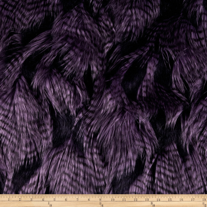 Fabric.com coupon: Shannon Lux Fur Fancy Feather Violet Fabric
