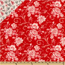 Lady In Red Double Sided Quilted Red Fabric