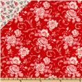 Lady In Red Double Sided Quilted Red