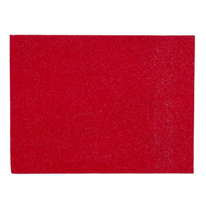 "Glitter Friendly Felt 9"" x 12"" Craft Cut Red"
