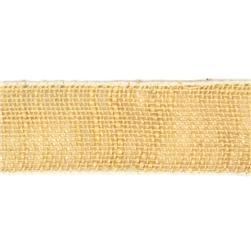 2 1/2'' Wired Burlap Ribbon Light Natural