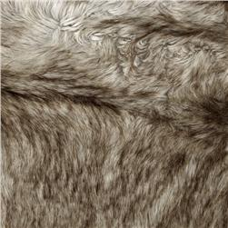 Faux Fur Siberian Fox Silver Fabric