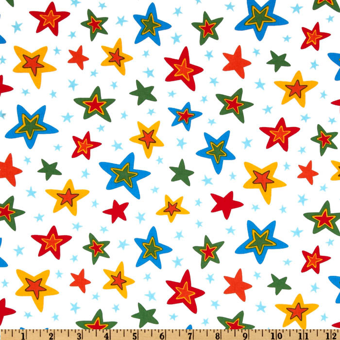 Celebrate Seuss 3 Stars White Fabric
