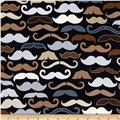 Timeless Treasures Men's Mustaches Black