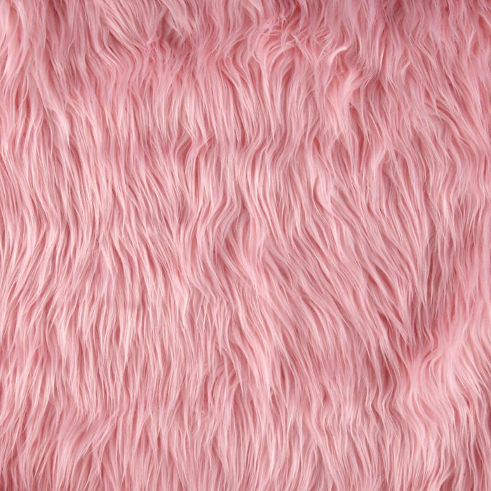 Shannon Lux Fur Mongolian Pink Discount Designer Fabric