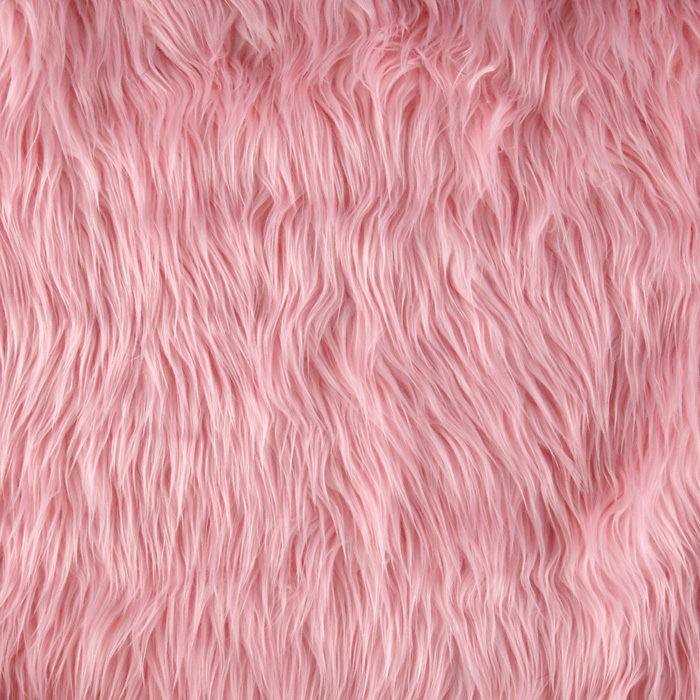 Fabric.com coupon: Shannon Lux Fur Mongolian Pink Fabric