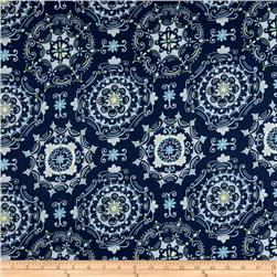 Tea Garden Sateen Home Décor Dream Right Navy