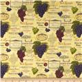 Vineyard Harvest Wine Labels Cream