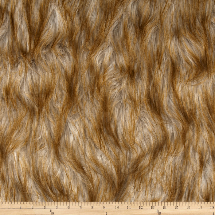 Shag Faux Fur Fox Blonde Fabric