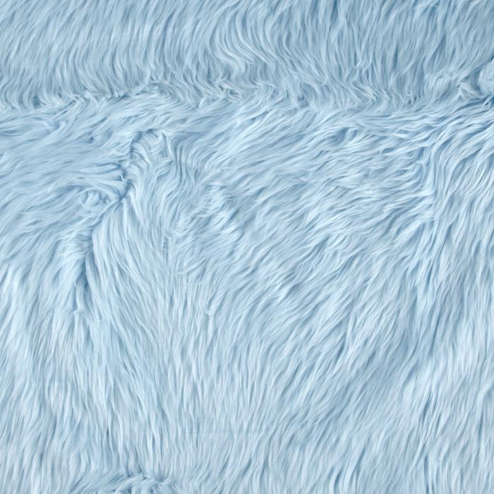 Shannon Faux Fur Luxury Shag Baby Blue Discount Designer Fabric