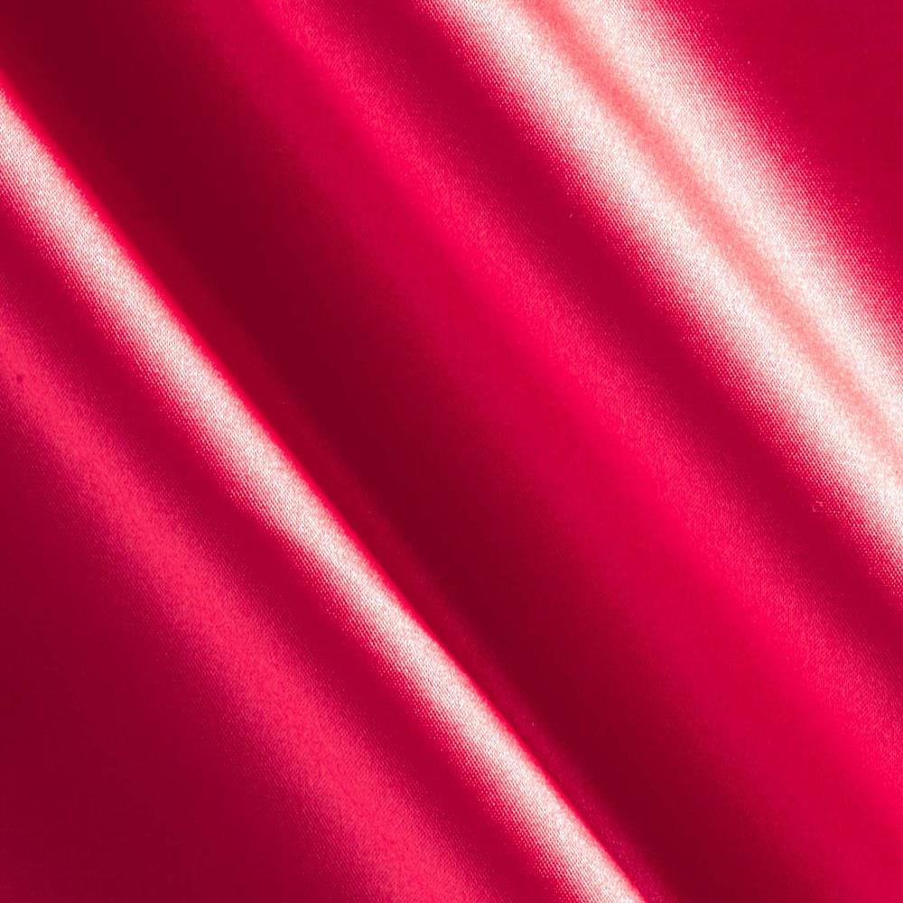 Stretch Satin Deep Coral Red