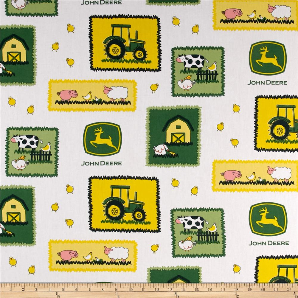 John Deere Nursery Farm Scene Patches Green