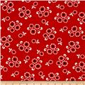Kanvas Moon Flower Moon Button Red