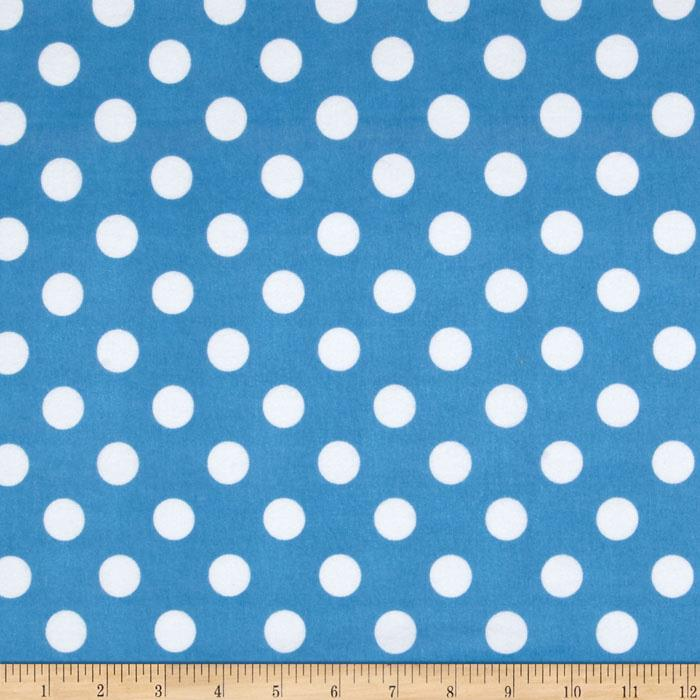 Riley Blake Flannel Basics Dots Medium Medium Blue