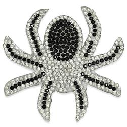 "2 1/2"" x 2 1/2"" Iron On Rhinestone Spider Applique"