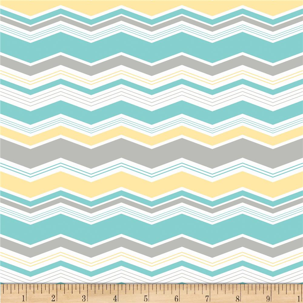 Riley Blake Little Ark Chevron Aqua